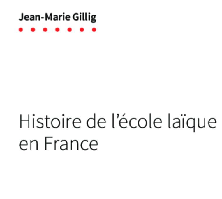 """Couverture du livre """"Histoire de l'école laïque en France"""""""
