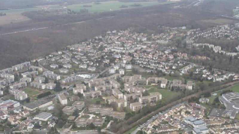 Photo aérienne d'une zone urbaine