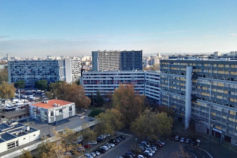 Vue en hauteur d'immeubles
