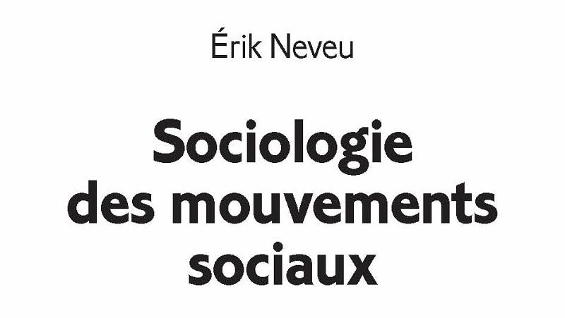"""Couverture du livre """"Sociologie des mouvements sociaux"""""""