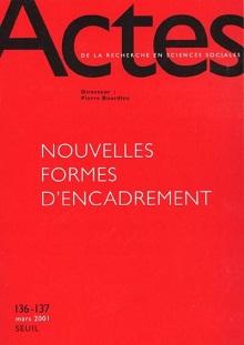 """Couverture du n° de la revue ARSS """"Nouvelles formes d'encadrement"""""""