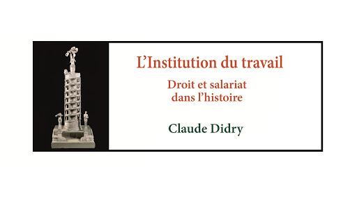 """Couverture du livre """"L'institution du travail"""""""