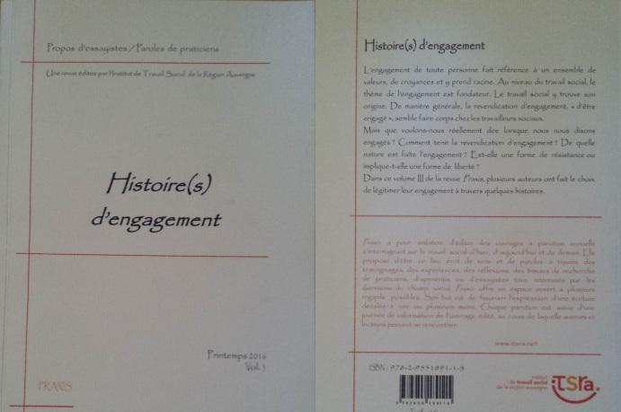 Couverture du Volume 3 de la revue Praxis, sur le thème de l'engagement