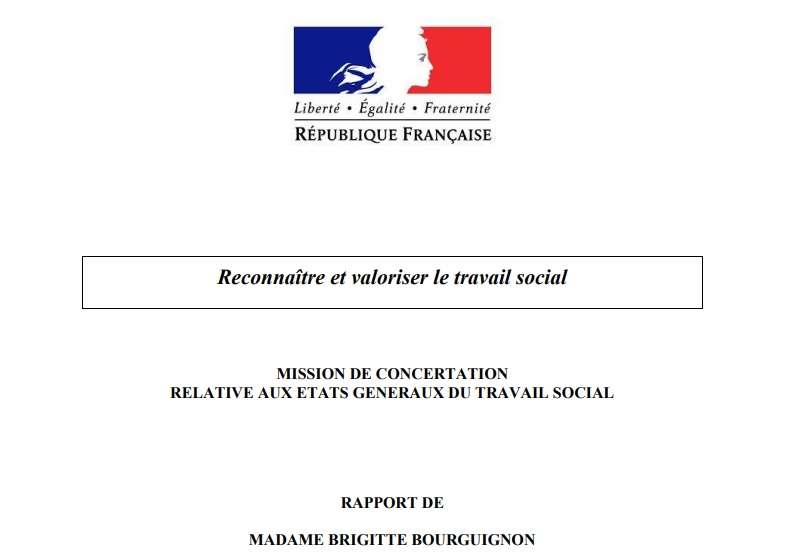 """Couverture du rapport """"Reconnaître et valoriser le travail social"""""""