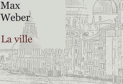 """Couverture du livre de Max Weber """"La ville"""""""