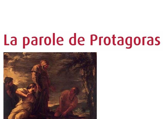 """Couverture du livre """"La parole de Protagoras"""""""