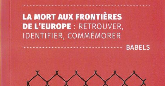 """Couverture du livre """"La mort aux frontières de l'Europe"""""""